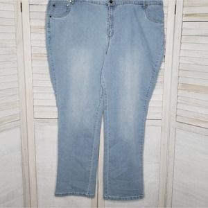 Woman Within Light Blue Jeans 26W Tall Plus Size